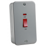 Metal Clad 45A DP Switch with Neon - Large Plate