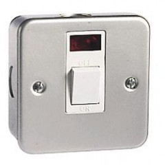 MC8341N - Metal Clad Switch Double Pole With Neon - 20 Amp