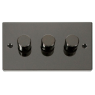 VPBN153BK - Click Deco Black Nickel 3 Gang 2 Way 400 Watt Dimmer