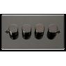 VPBN154BK - Click Deco Black Nickel 4 Gang 2 Way 400 Watt Dimmer