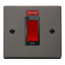 VPBN201BK - Click Deco Black Nickel 45Amp DP Cooker Switch 1 Gang + Neon