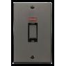 VPBN503BK - Click Deco Black Nickel 45Amp DP Cooker Switch 2 Gang + Neon