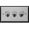 VPCH153BK - Click Deco Chrome 3 Gang 2 Way 400 Watt Dimmer