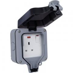 WP21-01 - BG Storm Weatherproof IP66 13Amp 1 Gang Switched Socket